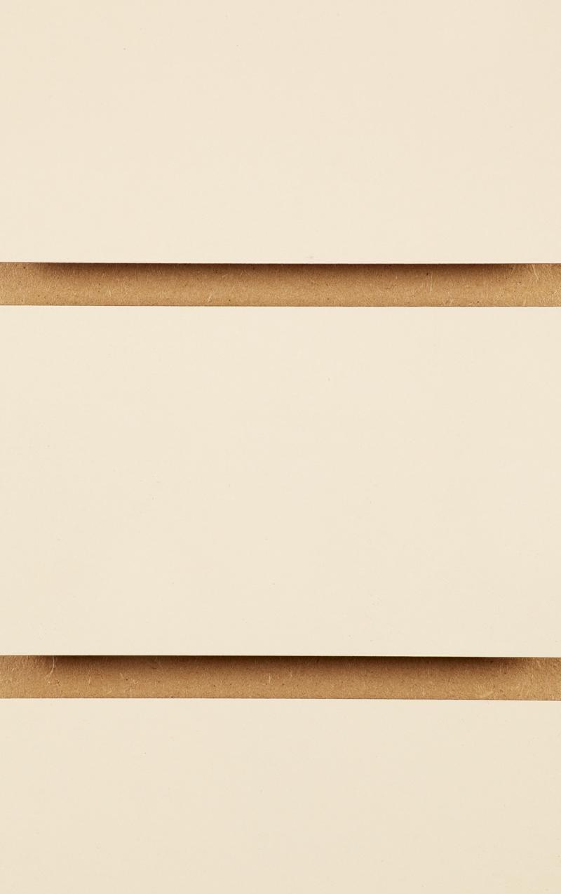 Plain Slatwall Panels 2400mm x 1200mm Cream