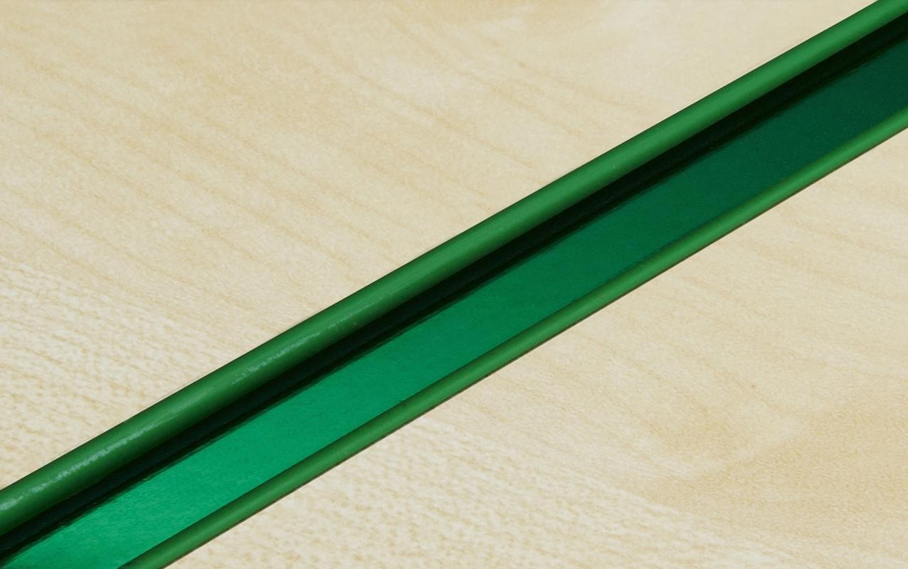 Green Slatwall Inserts with Green Mirror Back