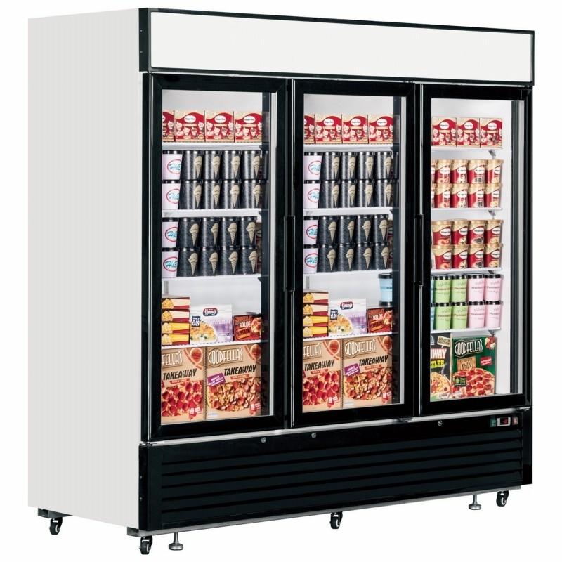 Interlevin LGF7500 Glass Door Display Freezer