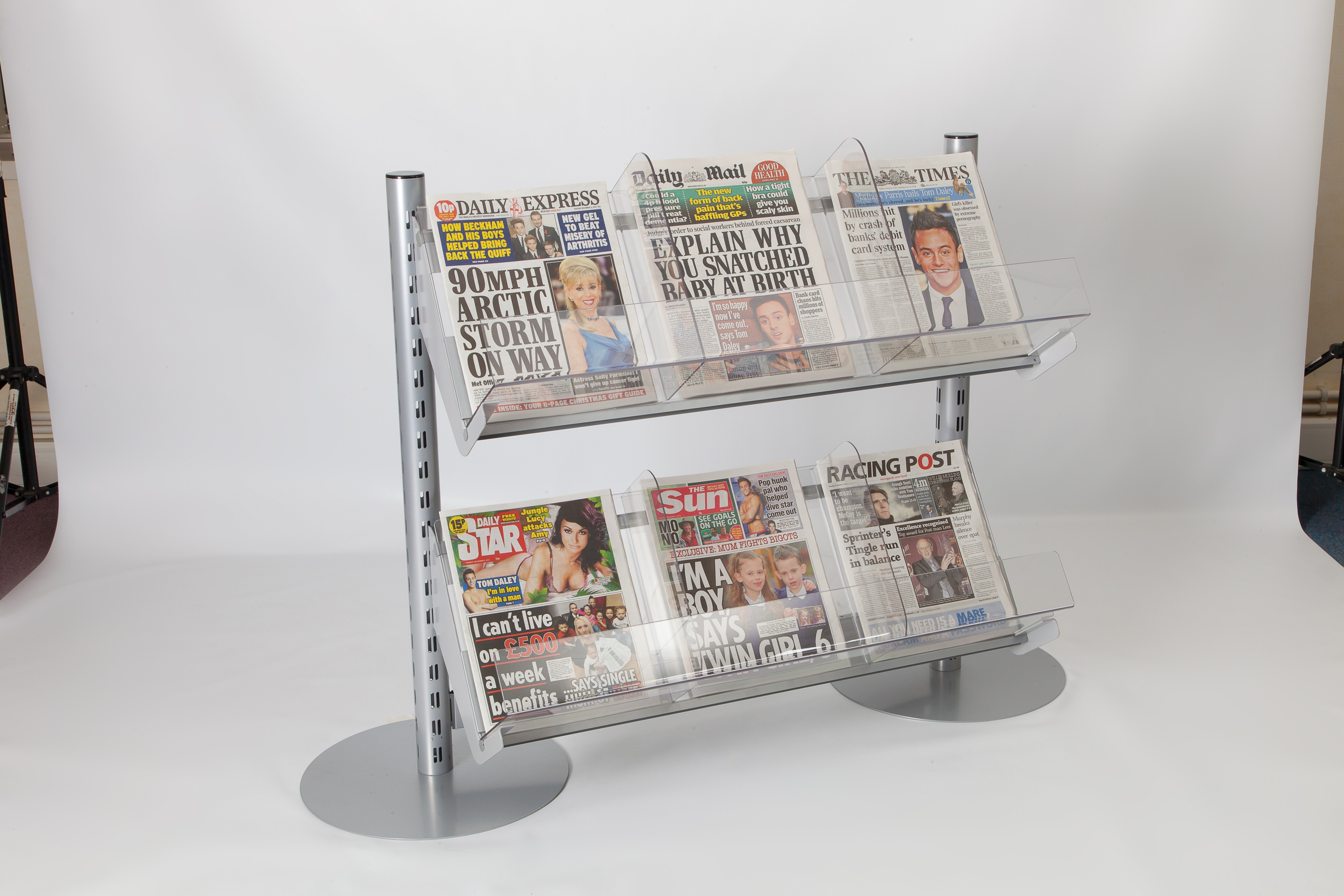 Set Of 2 Newspaper Shelves for Starter Bay