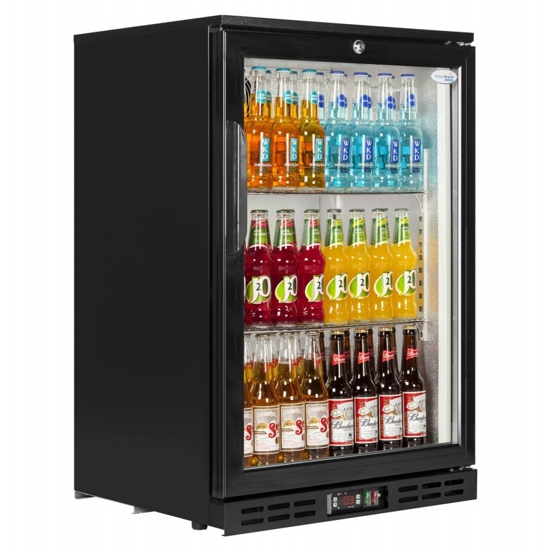 Interlevin PD10H Black Hinged Door Back Bar Cooler
