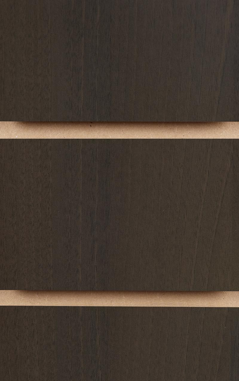 Wood Effect Slatwall Panels 1200MM X 1200MM Walnut