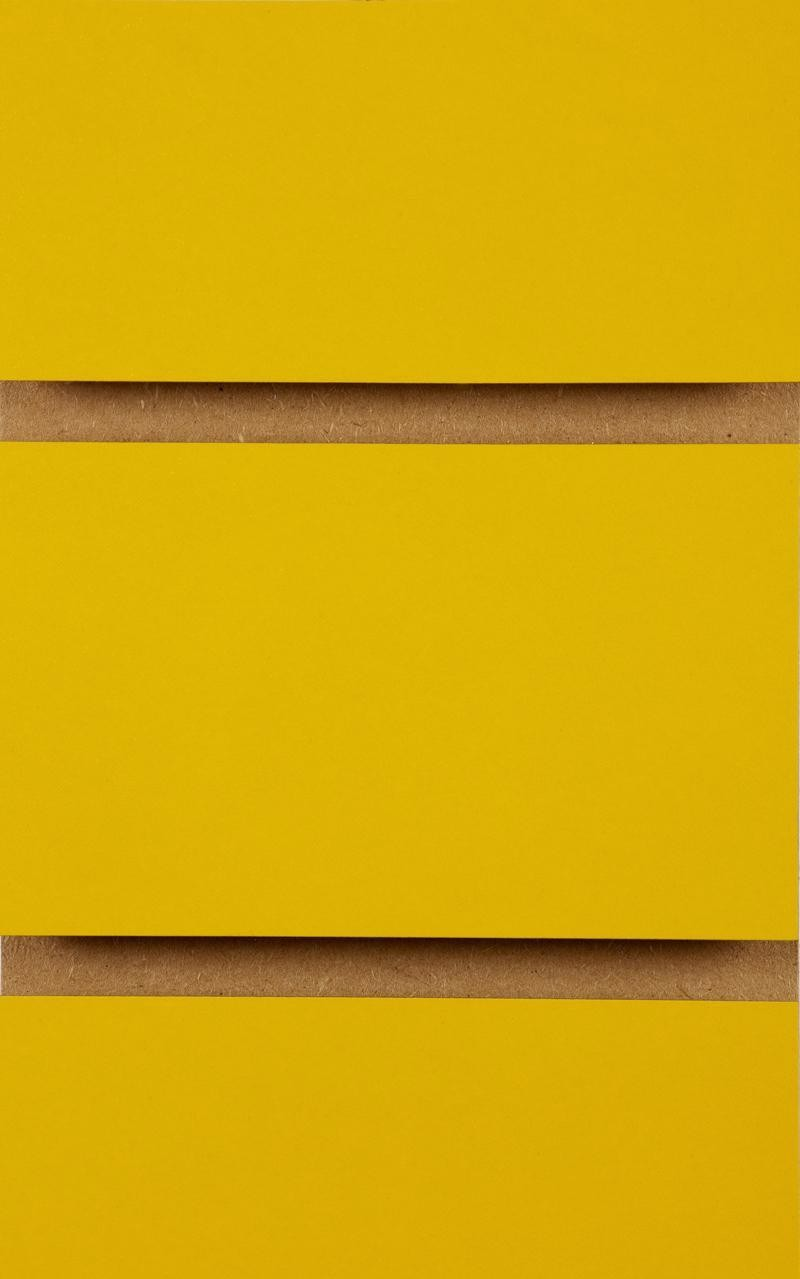Plain Slatwall Panels 2400mm x 1200mm Yellow