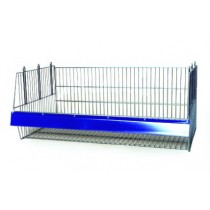Stacking Display Basket 980mm Width with Data Strips