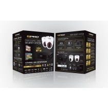 SPRO 4 Channel 1080p 2MP HDCVI 1TB CCTV Kit with 2 IR Cameras