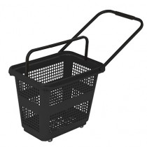 54 Litre High Capacity Black Trolley Basket