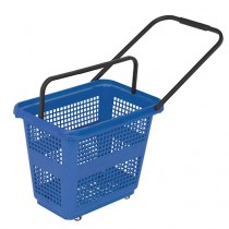 54 Litre High Capacity Blue Trolley Basket
