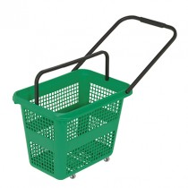 54 Litre High Capacity Green Trolley Basket