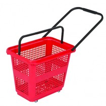 54 Litre High Capacity Red Trolley Basket