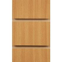 Wood Effect Slatwall Panels 2400MM X 1200MM Beech