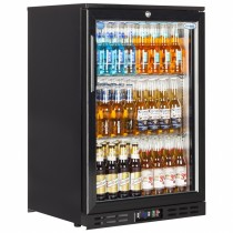 Interlevin EC10H Black Hinged Door Back Bar Cooler