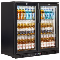 Interlevin EC20H Black Glass Door Back Bar Cooler