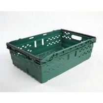 Green Baskets For Sloping Fruit & Veg Shelves Small