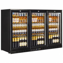 Interlevin EC30H Black Hinged Door Back Bar Cooler