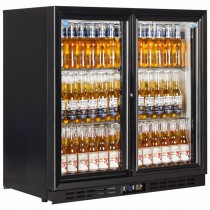 Interlevin EC20S Black Hinged Door Back Bar Cooler