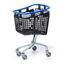 100 Litre LOOP 100 Plastic Shopping Trolley - Blue Handle