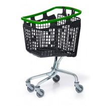 100 Litre LOOP 100 Plastic Shopping Trolley - Green Handle