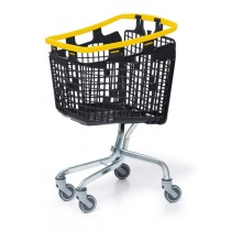 100 Litre LOOP 100 Plastic Shopping Trolley - Yellow Handle