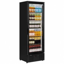 Interlevin PD110T Black Glass Door Back Bar Cooler