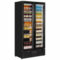 Interlevin PD220T Black Glass Door Back Bar Cooler
