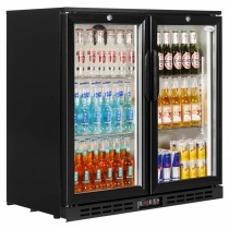 Interlevin PD20H Black Hinged Door Back Bar Cooler