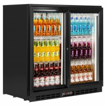 Interlevin PD20S Black Sliding Door Back Bar Cooler