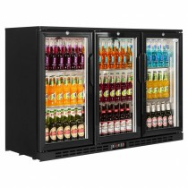 Interlevin PD30H Black Hinged Door Back Bar Cooler