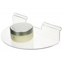 Clear Acrylic Semi-Circular Slatwall Shelf