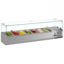 Interlevin VRX1600/330 Stainless Steel Gastronorm Topping Shelf