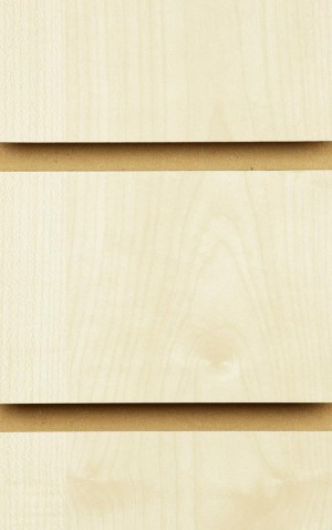 Wood Effect Slatwall Panels 2400MM X 1200MM Maple